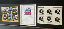 1981 NFL SUPERPRO CLUB Steelers Chapter Decal Stickers/SuperPro Club Certificate