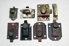 Antique Ornate Cabinet Cupboard Iron Latch Lock Slide Brass Knob Vtg