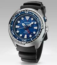 New Seiko SUN065 X Prospex Kinetic GMT Stainless Steel PADI Diver's Men's Watch