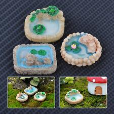 3 Fairy Garden Miniature House Landscape Ornament Pool Resin Dollhouse Decor DIY