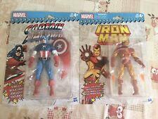 Marvel Legends Captain America & Iron Man Retro Figures