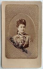CDV PHOTO GEISER à ALGER ALGERIE jeune femme avec corsage fleuri G685
