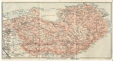 Carta geografica antica GARGANO Foggia Puglia TCI 1926 Antique map