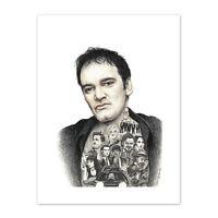 Wayne Maguire Tattooed Quentin Tarantino Inked Ikon Canvas Art Print