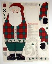 VTG Daisy Kingdom 3D Santa Door Panel 1997 XL Fabric Quilt Panel New UNCUT