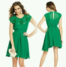 NEW GUESS by Marciano green missing belt Caliste Beaded Dress size M