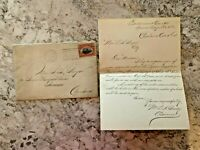 Letter & Envelope From 1901 - Invite Reminder - Ephemera/Stamps