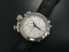 50mm Parnis Russian Military Automatic Movement Men Watch 24-Hour Month Date Day