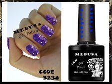 Medusa B238 Diamond Purple glitter UV/LED nail gel polish soak off nail hybrid