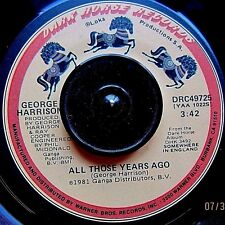 George Harrison-All Those Years AgoWriting's on Wall45 Orig.'81Dark Horse(NM)!!