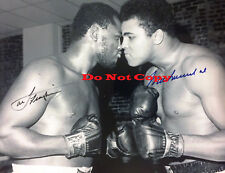 Muhammad Ali and Joe Frazier  Autographed photo Reprint