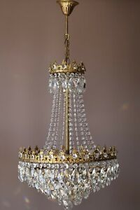 Empire Vintage Crystal Chandelier, Home Antique Lighting, Sale French Light lamp