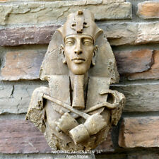 History Egyptian Pharaoh AKHENATEN Sun god Sculptural wall relief Bust 14""