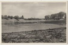 The River from Lonsdale Road looking to Hammersmith Bridge, London RPPC B778
