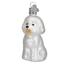 """Bichon Frise"" (12298)X Old World Christmas Glass Ornament w/ OWC Box"