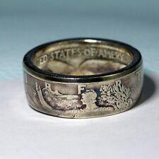 1934 Silver Walking Liberty Half Dollar COIN RING, USA Size 8 - 13 1/2