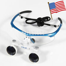 USA Stock New Dental Surgical Binocular 3.5X Loupes Optical Glasses Medical Blue