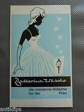 Ballerina Wäsche alte Werbepappe 50er Jahre Petticoat