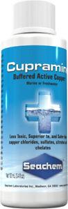 Seachem Cupramine Buffered Active Copper For Marine & Freshwater - 100 ml