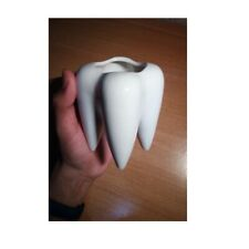 Flower Pot Tooth Shape Desktop Ceramic Succulent Plants Modern Design Vase Decor