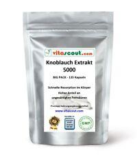 Knoblauch 135 Kapseln je 5000mg (=Extrakt 50mg 100:1) Garlic von VITASCOUT®
