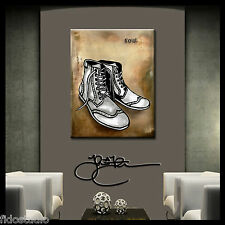 Original Abstract SHOE print Modern Decor HUGE Canvas Wall Art by Fidostudio