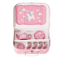 Sass & Belle Pink Unicorn Children Tea Set Picnic Box Kids Toy Role Play