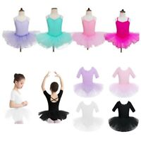 Toddler Girls Short Sleeves Leotard Ballet Tutu Dance Dress Gymnastics Dancewear