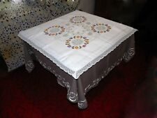Tablecloth Embroidery Antiques Vintage Linen Or Cotton