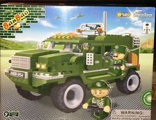 BanBao 8252 Military Truck Building Block Set 290pcs Pull back Action