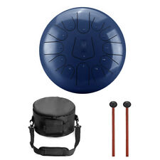 More details for 12 inch 13 notes steel tongue drum handpan with drum mallets dark blue color #