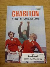 13/09/1975 Charlton Athletic v Blackpool  . Footy Progs/Bobfrankandelvis, experi