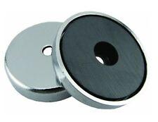 Rundmagnet, Runder Magnet, Magnet Scheibe, 36 x 7 mm, bis 7,2 kg, verchromt