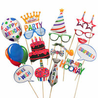 20pcs Photo Booth Props Happy Birthday Party Photography Kit Mustache New
