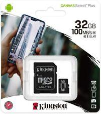 Kingston 32GB Tarjeta De Memoria SDHC Micro SD Clase 10 Con Adaptador Smartphone