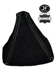 WHITE STITCH REAL SUEDE GEAR GAITER SHIFT BOOT FITS HONDA S2000 1999-2009