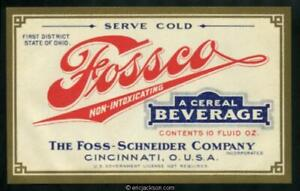 Fossco Non-Intoxicating A Cereal Beverage. 10 oz. Mint, VF