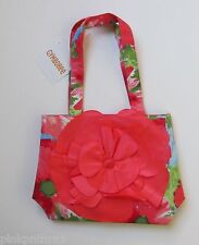 NWT Gymboree BURST OF SPRING Coral Watercolor Peony Flower Tote Purse Bag FLOWER