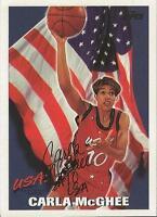Carla McGhee 1995 Topps USA Basketball Autograph #8 Tennessee