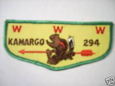 KAMARGO LODGE 294 F2A FLAP PATCH