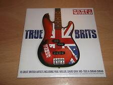 VARIOUS - TRUE BRITS - NEWS OF THE WORLD PROMO CD - UK FREEPOST