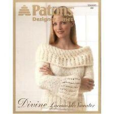 Patons Divine Lacework Sweater Knitting Pattern