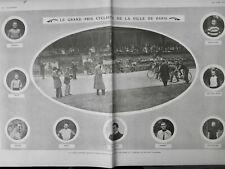 1903 VELO PRIX CYCLISTE PARIS PORTRAIT COUREUR BIXIO MEYERS RUTT GROGNA
