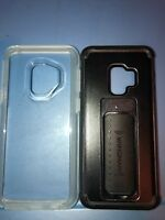 Lot Of 2pc Scooch Wingman black Case, Otter-box  Cover For Samsung Galaxy S9