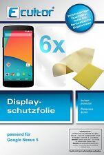 6x LG Google Nexus 5 Film de protection d'écran protecteur cristal clair