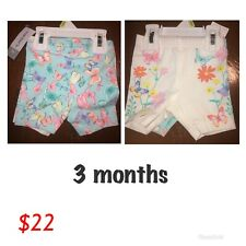 Shorts Carter's Baby Girl Size 3 Months Set 2 Pieces