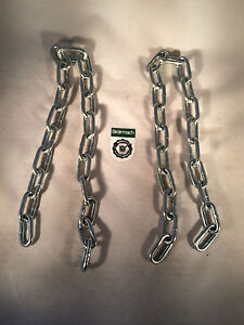 Land Rover Series 2, 2A &3 88 or 109 Tailgate Chains X2 MTC1827
