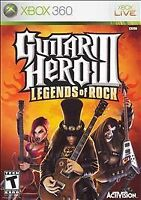 Guitar Hero III: Legends of Rock (Microsoft Xbox 360, 2007) USED
