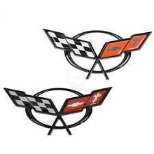 OEM Emblem Crossed Flags Front & Rear Bumper Mounted for 97-04 Chevy Corvette