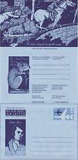 GB FRANCOBOLLI AEROGRAMMA/air lettera APS28 - 6p Robert Burns, mouse, Cavallo, strega 1975